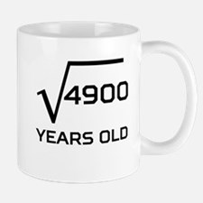 Square Root 70 Years Old Mugs