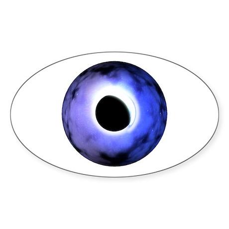 Magical eye of lunar eclipse Oval Sticker