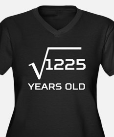 Square Root 35 Years Old Plus Size T-Shirt