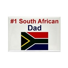 S Africa-#1 Dad Rectangle Magnet
