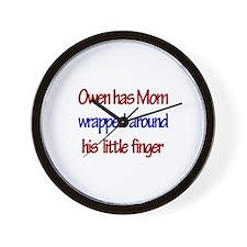 Owen - Mom Wrapped Around Fi Wall Clock