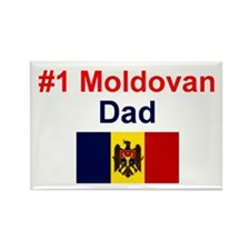 Moldovan #1 Dad Rectangle Magnet