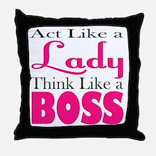 think like a boss Throw Pillow