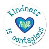 Kindness Round Car Magnets