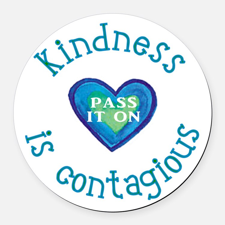 Cute Kindness Round Car Magnet