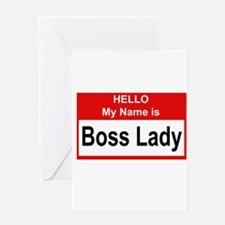 Boss Lady Greeting Cards