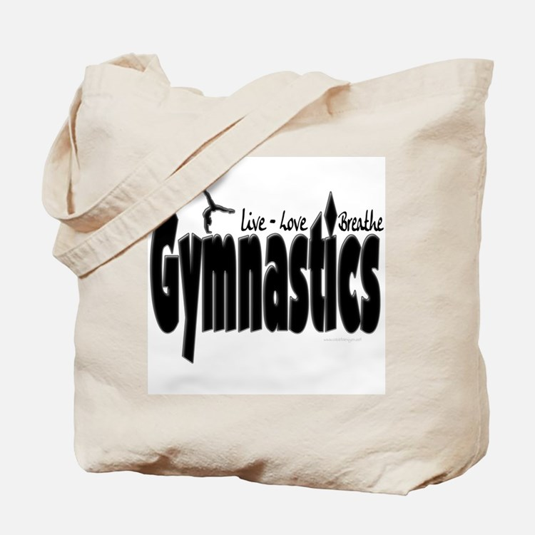 Live Love Breathe Gymnastics Tote Bag