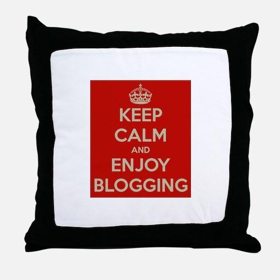 Cute Blogging Throw Pillow