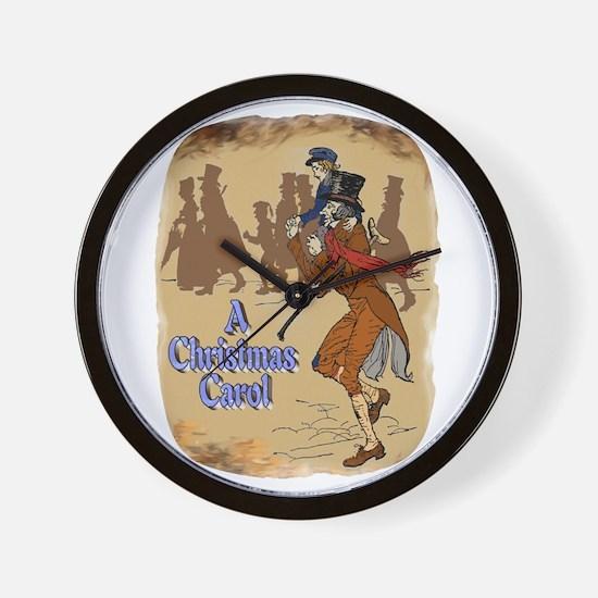 Tiny Tim and Bob Cratchit Wall Clock