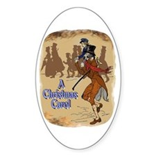 Tiny Tim and Bob Cratchit Oval Decal