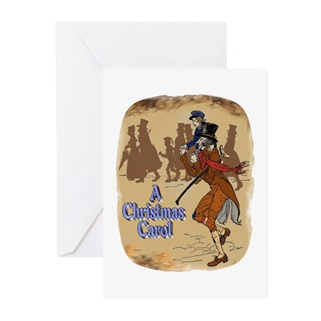 Tiny Tim and Bob Cratchit Greeting Cards (Pk of 10