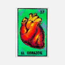 El Corazon Rectangle Magnet