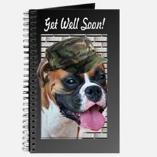 Get Well Soon Boxer Dog Journal