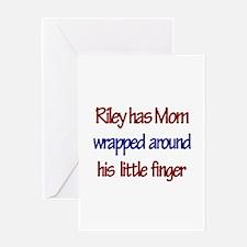 Riley - Mom Wrapped Around F Greeting Card