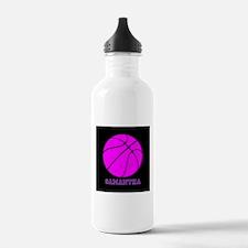 Pink Basketball Girls Water Bottle
