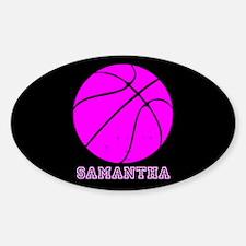 Pink Basketball Girls Decal