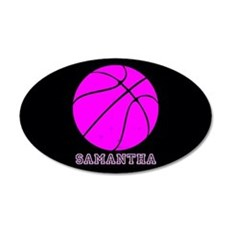 Pink Basketball Girls Wall Decal