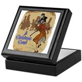 Christmas carol Square Keepsake Boxes