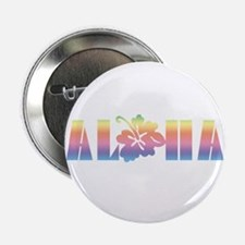 "Aloha with Hibiscus 2.25"" Button (100 pack)"