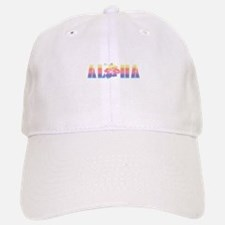 Aloha with Hibiscus Baseball Baseball Cap