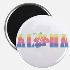 Aloha with Hibiscus Magnet
