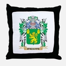 O'Keeffe Coat of Arms - Family Crest Throw Pillow