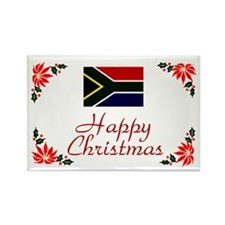 S Africa-Christmas Rectangle Magnet