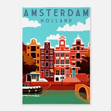 Amsterdam Holland Travel 5'x7'Area Rug