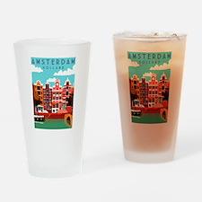 Amsterdam Holland Travel Drinking Glass