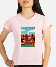 Amsterdam Holland Travel Performance Dry T-Shirt