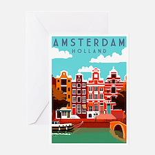 Amsterdam Holland Travel Greeting Cards