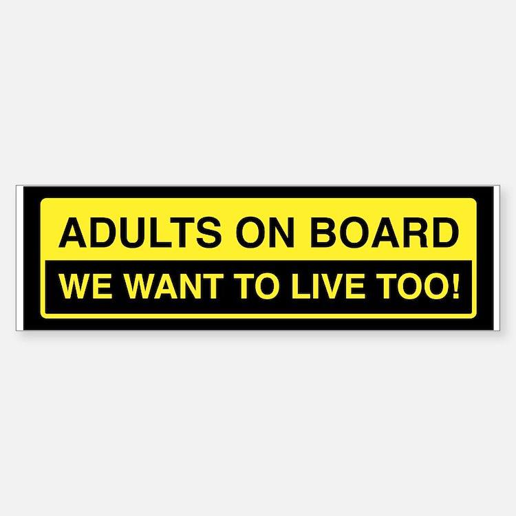 Adults On Board Bumper Bumper Bumper Sticker
