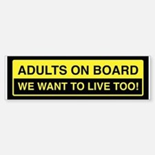 Adults On Board Bumper Stickers