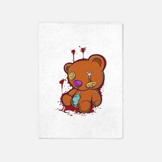 Broken Teddybear 5'x7'Area Rug