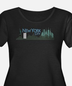 New York City Skyline Plus Size T-Shirt