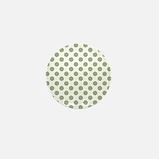 Sage Green Polka Dots Mini Button