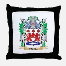 O'Neill Coat of Arms - Family Crest Throw Pillow