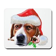 Beagle Christmas Mousepad