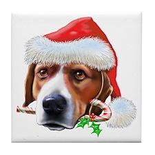 Beagle Christmas Tile Coaster