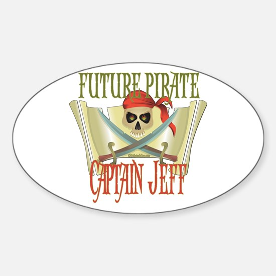 Captain Jeff Oval Decal