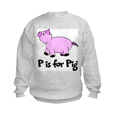 P is for Pig Sweatshirt