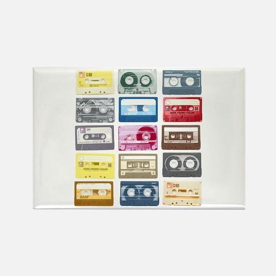 Mixtapes Color Cassette Rectangle Magnet