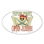 Captain Jedidiah Oval Sticker