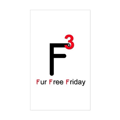 Fur Free Friday Rectangle Sticker