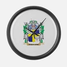Osbourne Coat of Arms - Family Cr Large Wall Clock