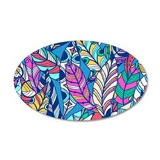 Colorful Feathers Wall Decal
