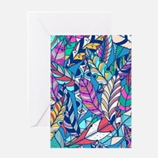 Colorful Feathers Greeting Cards
