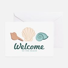 Welcome Seashells Greeting Cards