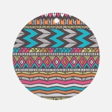 Native Pattern Round Ornament