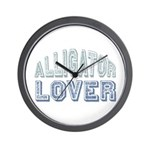 Alligator Lover Florida Fan Wall Clock